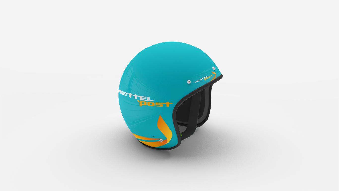 Open Face Motorcycle Helmet Mockup
